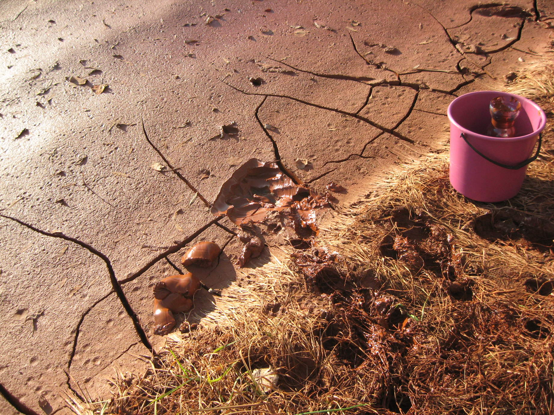 Sampling of the red mud for laboratory experiments