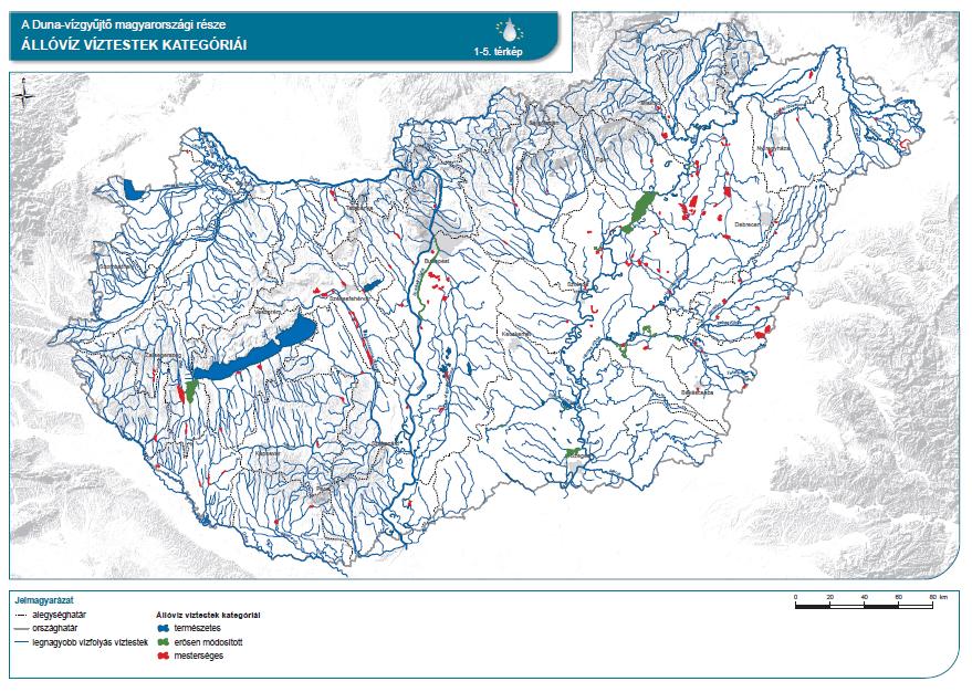Állóvíz víztestek kategóriái