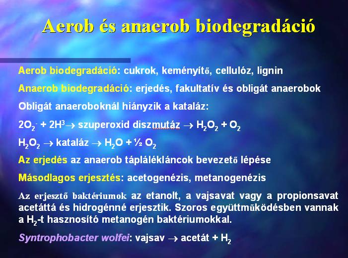 Aerob és anaerob biodegradáció