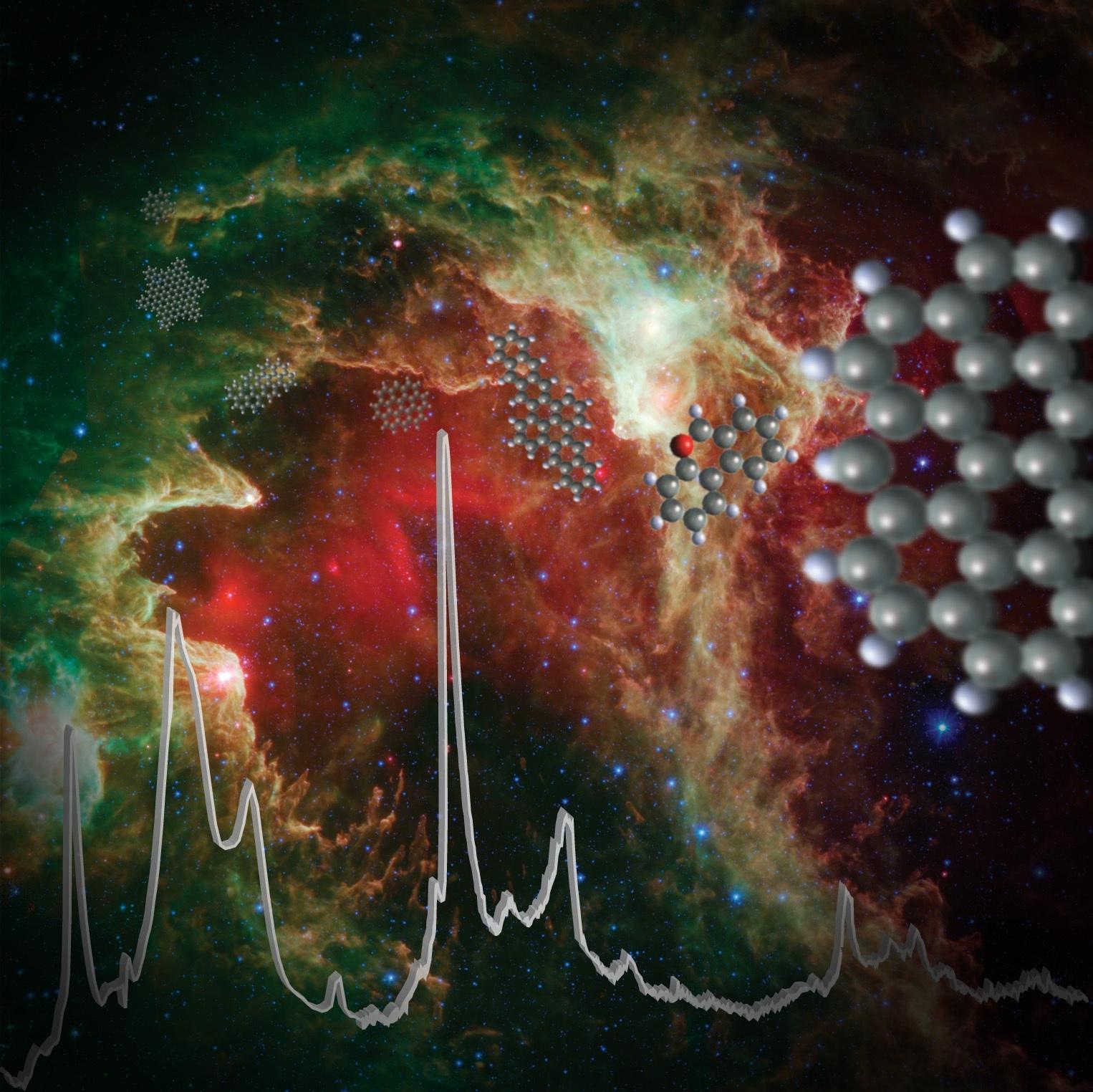 PAH-ok infravörös ujjlenyomata a Föld körüli ködfoltban