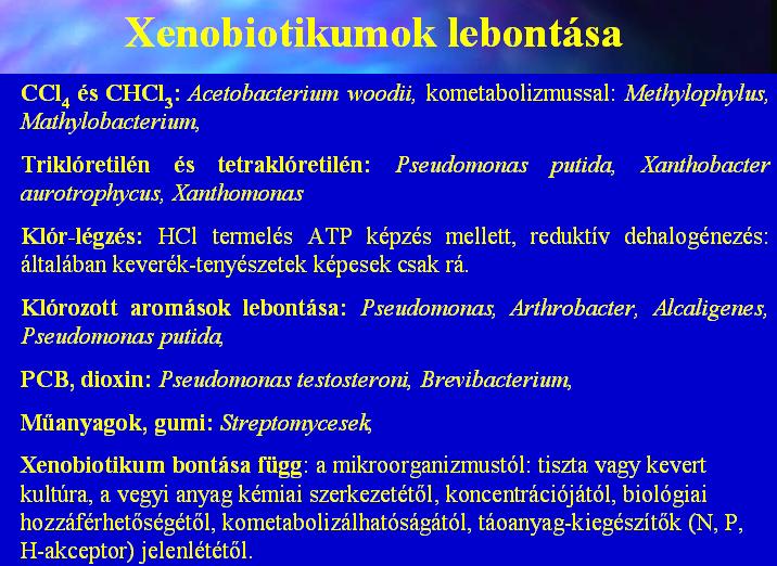 Xenobiotikumok lebontása