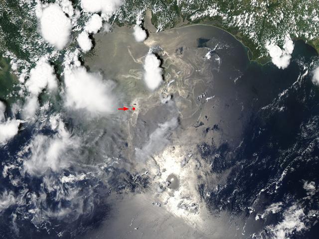 Olajfolt a Mexikói-öbölben