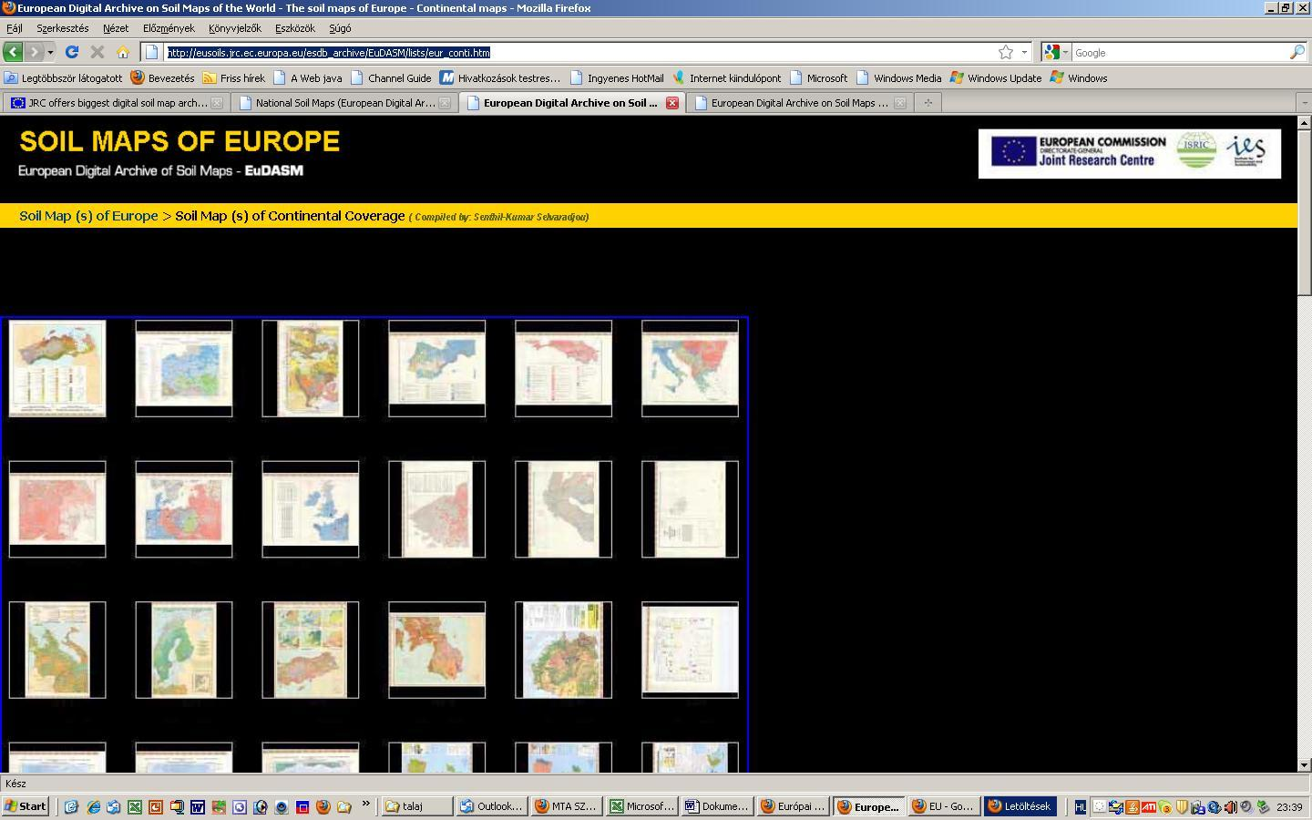 EU soil maps