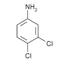 3,4-diklór-anilin szerkezeti képlete